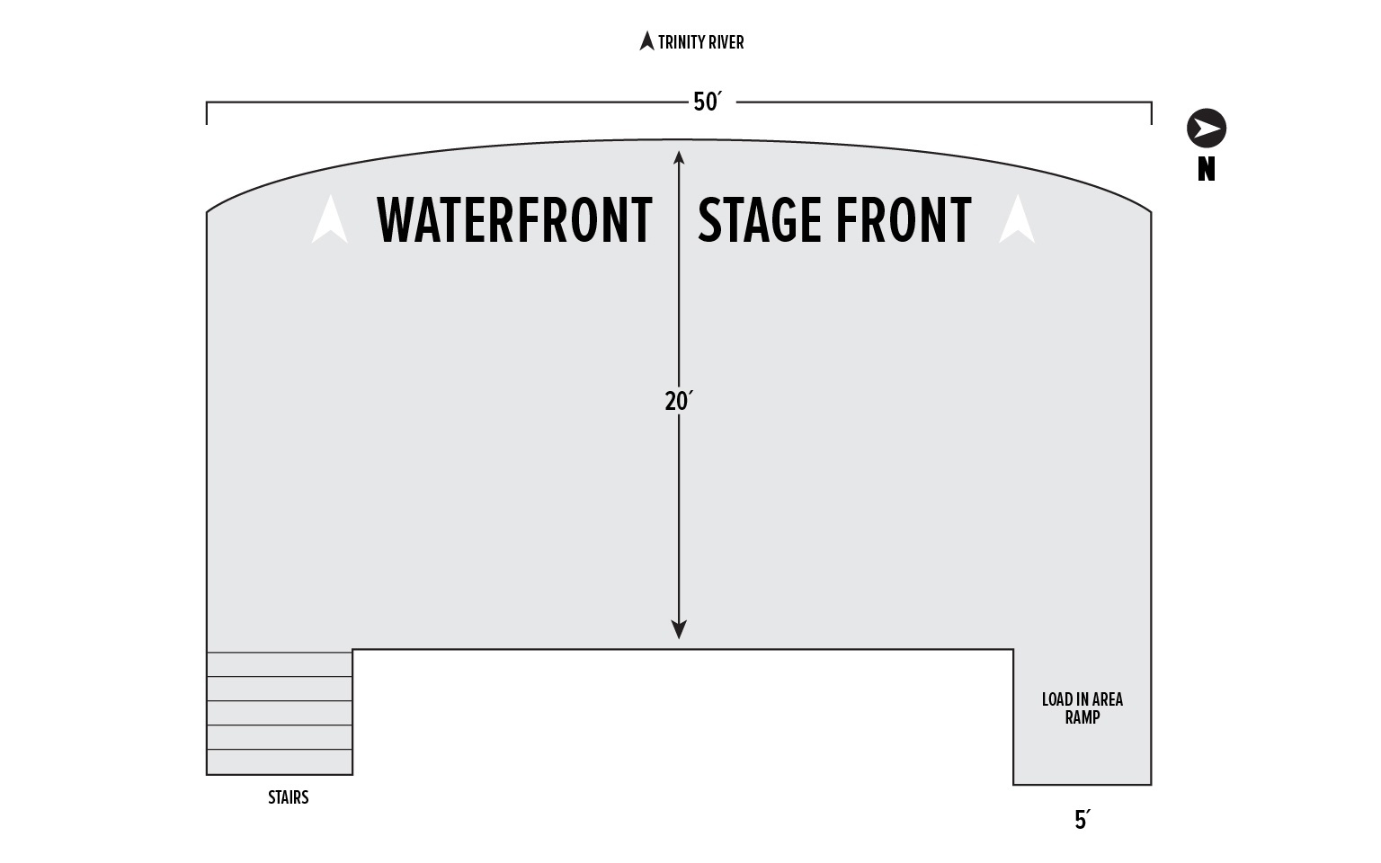 South Shore Stage Diagram at Panther Island Pavilion